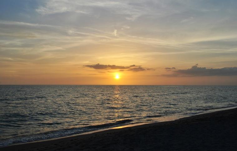 sunset marino beach